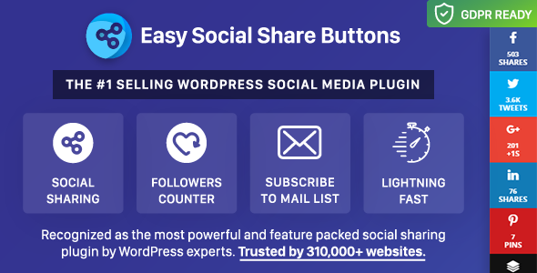 Wtyczki Wordpress 2017 Social Buttons