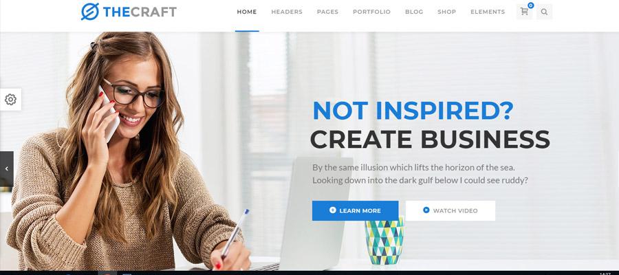 Szablony Wordpress dla Firm Craft