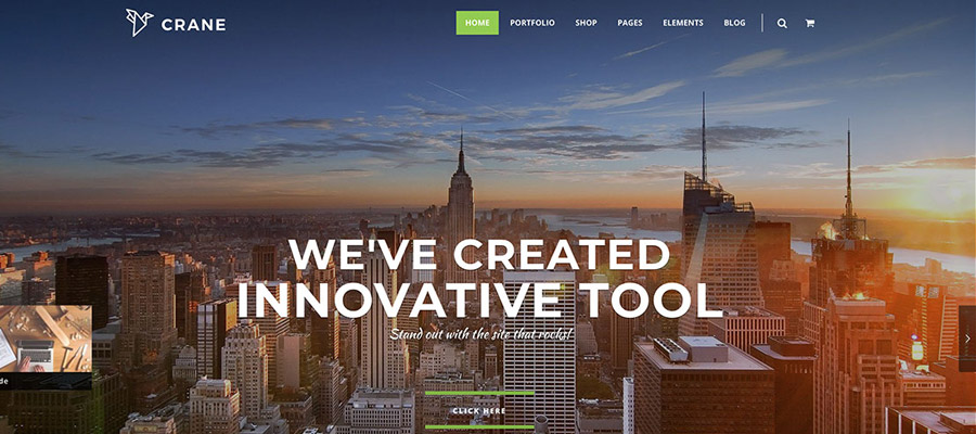 Szablony Wordpress dla Firm Crane