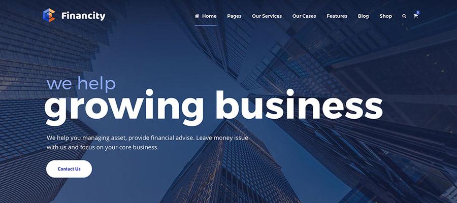 Szablony Wordpress dla Firm Financity