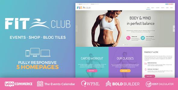Szablony Wordpress dla Fitness FitClub