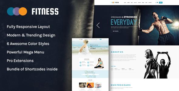 Szablony Wordpress dla Fitness