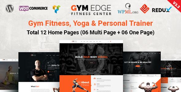 Szablony Wordpress dla Fitness Gym Yoga